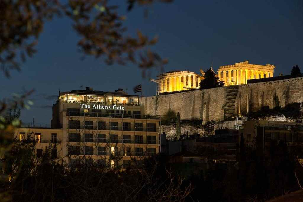 The Athens Gate Hotel Acropolis view, The Athens Gate Hotel rooftop restaurant